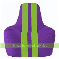 Кресло мешок Спортинг фиолетовый - салатовый С1.1-31
