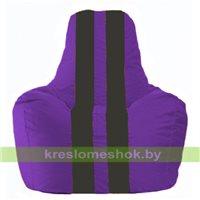 Кресло мешок Спортинг фиолетовый - чёрный С1.1-67