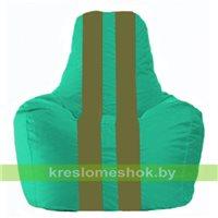 Кресло-мешок Спортинг бирюзовый - оливковый С1.1-297