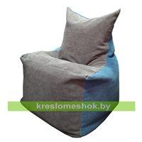 Кресло мешок Фокс серо - голубой