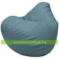 Бескаркасное кресло-мешок Груша Г2.3-36 голубой
