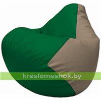 Бескаркасное кресло-мешок Груша Г2.3-0102 зелёный, светло-серый