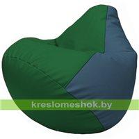 Бескаркасное кресло-мешок Груша Г2.3-0103 зелёный, синий