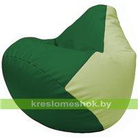 Бескаркасное кресло-мешок Груша Г2.3-0104 зелёный, светло-салатовый