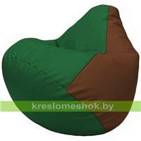 Бескаркасное кресло-мешок Груша Г2.3-0107 зелёный, коричневый
