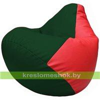 Бескаркасное кресло-мешок Груша Г2.3-0109 зелёный, красный