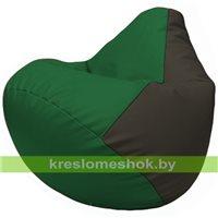 Бескаркасное кресло-мешок Груша Г2.3-0116 зелёный, чёрный