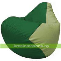 Бескаркасное кресло-мешок Груша Г2.3-0119 зелёный, оливковый