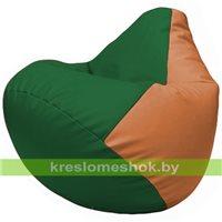 Бескаркасное кресло-мешок Груша Г2.3-0120 зелёный, оранжевый
