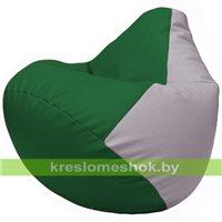 Бескаркасное кресло-мешок Груша Г2.3-0125 зелёный, сиреневый