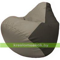 Бескаркасное кресло-мешок Груша Г2.3-0216 светло-серый, чёрный