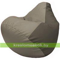 Бескаркасное кресло-мешок Груша Г2.3-0217 светло-серый, серый
