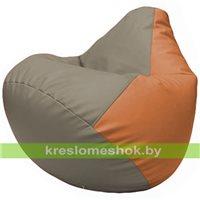 Бескаркасное кресло-мешок Груша Г2.3-0220 светло-серый, оранжевый