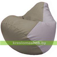 Бескаркасное кресло-мешок Груша Г2.3-0225 светло-серый, сиреневый