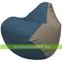 Бескаркасное кресло-мешок Груша Г2.3-0302 синий, светло-серый