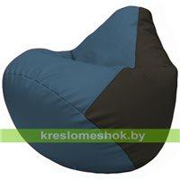 Бескаркасное кресло-мешок Груша Г2.3-0316 синий, чёрный
