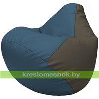 Бескаркасное кресло-мешок Груша Г2.3-0317 синий, серый