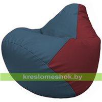 Бескаркасное кресло-мешок Груша Г2.3-0321 синий, бордовый