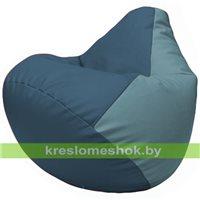 Бескаркасное кресло-мешок Груша Г2.3-0336 синий, голубой