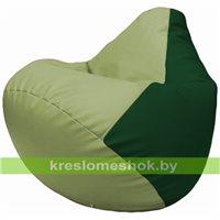 Бескаркасное кресло-мешок Груша Г2.3-0401 оливковый, зелёный