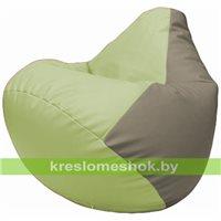 Бескаркасное кресло-мешок Груша Г2.3-0402 светло-салатовый, светло-серый