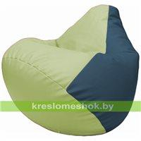 Бескаркасное кресло-мешок Груша Г2.3-0403 светло-салатовый, синий