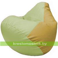 Бескаркасное кресло-мешок Груша Г2.3-0408 светло-салатовый, охра
