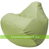 Бескаркасное кресло-мешок Груша Г2.3-0419 светло-салатовый, оливковый