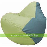 Бескаркасное кресло-мешок Груша Г2.3-0436 светло-салатовый, голубой