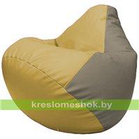 Бескаркасное кресло-мешок Груша Г2.3-0802 охра, светло-серый