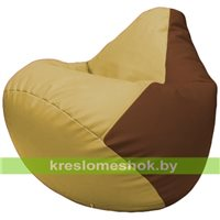 Бескаркасное кресло-мешок Груша Г2.3-0807 охра, коричневый