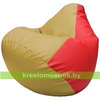 Бескаркасное кресло-мешок Груша Г2.3-0809 охра, красный