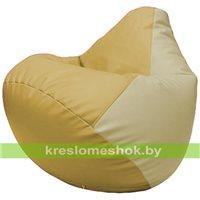 Бескаркасное кресло-мешок Груша Г2.3-0810 охра, светло-бежевый