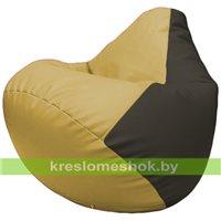 Бескаркасное кресло-мешок Груша Г2.3-0816 охра, чёрный