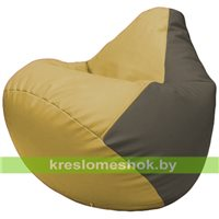 Бескаркасное кресло-мешок Груша Г2.3-0817 охра, серый