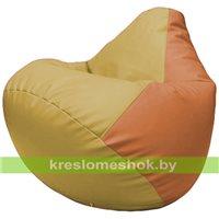 Бескаркасное кресло-мешок Груша Г2.3-0820 охра, оранжевый