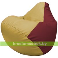 Бескаркасное кресло-мешок Груша Г2.3-0821 охра, бордовый