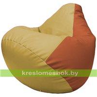 Бескаркасное кресло-мешок Груша Г2.3-0823 охра, оранжевый