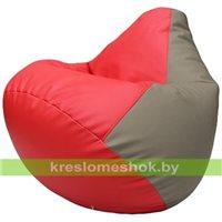 Бескаркасное кресло-мешок Груша Г2.3-0902 красный, светло-серый