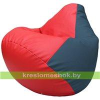 Бескаркасное кресло-мешок Груша Г2.3-0903 красный, синий