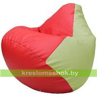 Бескаркасное кресло-мешок Груша Г2.3-0904 красный, светло-салатовый