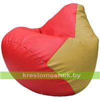 Бескаркасное кресло-мешок Груша Г2.3-0908 красный, охра