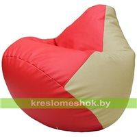 Бескаркасное кресло-мешок Груша Г2.3-0910 красный, светло-бежевый