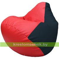 Бескаркасное кресло-мешок Груша Г2.3-0915 красный, синий
