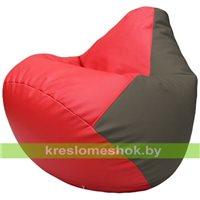 Бескаркасное кресло-мешок Груша Г2.3-0917 красный, серый