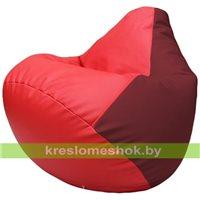 Бескаркасное кресло-мешок Груша Г2.3-0921 красный, бордовый