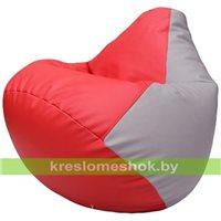 Бескаркасное кресло-мешок Груша Г2.3-0925 красный, сиреневый