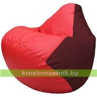 Бескаркасное кресло-мешок Груша Г2.3-0932 красный, бордовый
