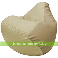 Бескаркасное кресло-мешок Груша Г2.3-1012 светло-бежевый, бежевый