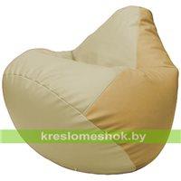 Бескаркасное кресло-мешок Груша Г2.3-1013 светло-бежевый, бежевый